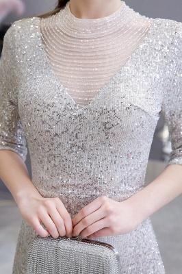 Lindo prata mangas compridas barato longo vestido de baile_8