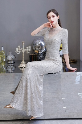 Lindo prata mangas compridas barato longo vestido de baile_16