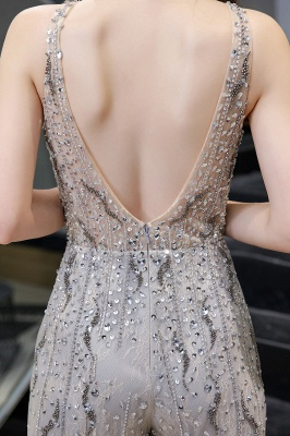 Sparkle Illusion High neck See-through Prom Jumpsuit_11
