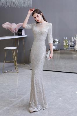 Lindo prata mangas compridas barato longo vestido de baile_4