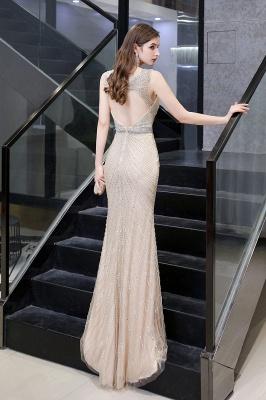 Sexy Mermaid V-neck Silver Mermaid Prom Dress_27