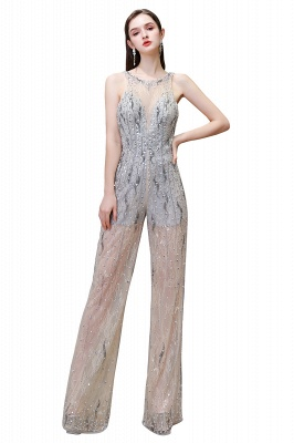 Sparkle Illusion High neck See-through Prom Jumpsuit_1