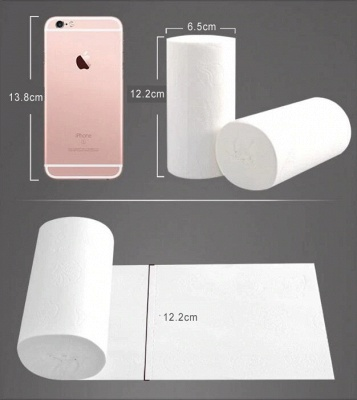 10 Rolls/Lot Fast Shipping Toilet Roll Paper 4 Layers Home Bath Toilet Roll Paper Primary Wood Pulp Toilet Paper Tissue Roll GYH_3