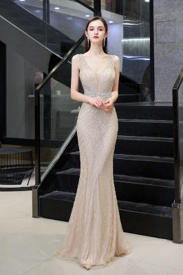 Sexy Mermaid V-neck Silver Mermaid Prom Dress_13