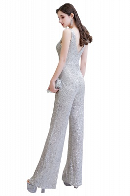 Sexy Shining V-neck Silver Sequin Sleeveless Prom Jumpsuit_24