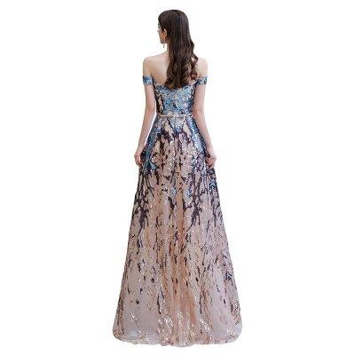 Funkeln Sie von der Schulter Rainbow Pailletten A-Linie Long Prom Dress_14