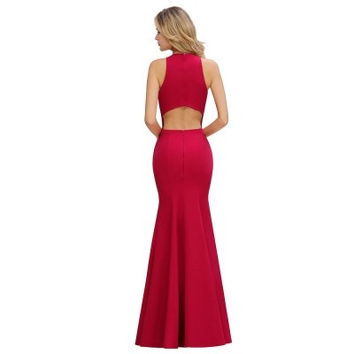 Sexy Halter Mermaid Evening Maxi Gown Side Slit Party Dress_12