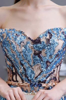 Sparkle Off the hombro Vestido de fiesta largo con lentejuelas arcoíris_15