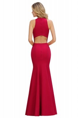 Sexy Halter Mermaid Evening Maxi Gown Side Slit Party Dress_10