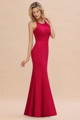 Sexy Halter Mermaid Evening Maxi Gown Side Slit Party Dress_1