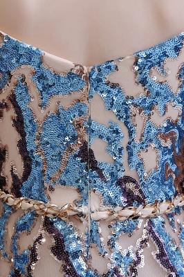 Sparkle Off the shoulder Rainbow sequin A-line Long Prom Dress_13