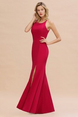 Sexy Halter Mermaid Evening Maxi Gown Side Slit Party Dress_3
