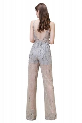 Sparkle Illusion High neck See-through Prom Jumpsuit_15