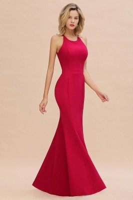 Sexy Halter Mermaid Evening Maxi Gown Side Slit Party Dress_8