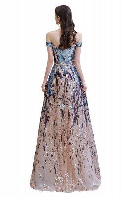 Funkeln Sie von der Schulter Rainbow Pailletten A-Linie Long Prom Dress_16