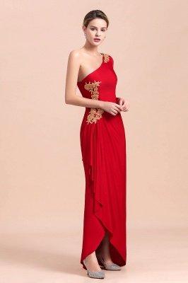 На одно плечо длинные рукава красные складки Плюс размер Платье для матери невесты_6