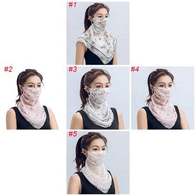Frauen Schal Gesichtsmaske Multifunktional 13 Styles Seide Chiffon Taschentuch Outdoor Windproof Half Face Staubdichte Sonnenschutzmasken_2