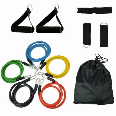 16Pcs/Set Latex Resistance Bands Crossfit Training Exercise Yoga Tubes Pull Rope,Rubber Expander Elastic Bands Fitness with Bag_2