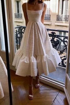 Robe de soirée princesse sans manches col rond blanche princesse_1