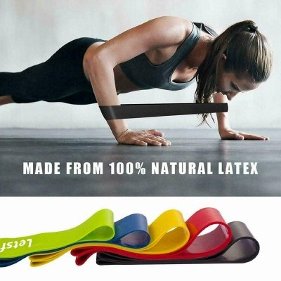 5*Pcs Elastic Yoga Resistance Rubber Bands Fitness Gum X-light to X-heavy Pilates Sport Training Workout Elastic Bands Fitness Equipment