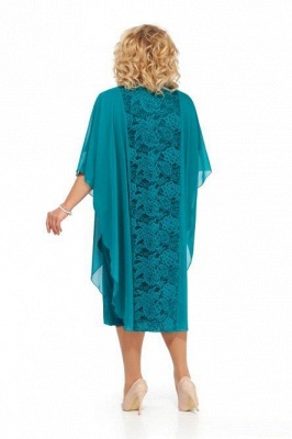Plus Size Mother of the Bride Dress Knee Length Half Sleeve Church Dresses US14w-24w_2