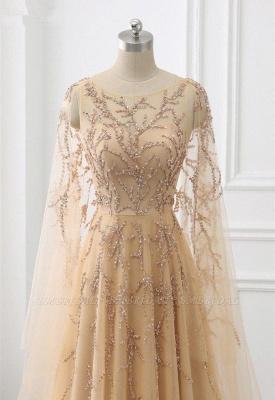 Элегантные платья выпускного вечера с длинными рукавами и оборками с жемчугом и бисером онлайн_2