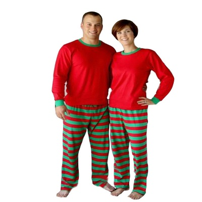 Conjuntos de pijamas familiares a juego Ropa de dormir navideña Reno de feliz Navidad_17