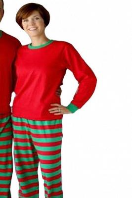 Подходящие семейные пижамы наборы рождественские пижамы с Рождеством оленей_5
