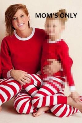 Подходящие семейные пижамы наборы рождественские пижамы с Рождеством оленей_2