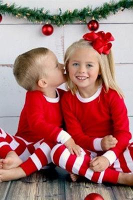 Подходящие семейные пижамы наборы рождественские пижамы с Рождеством оленей_3