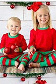 Подходящие семейные пижамы наборы рождественские пижамы с Рождеством оленей_6