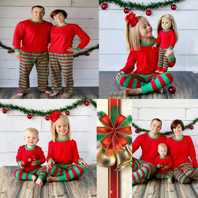 Conjuntos de pijamas familiares a juego Ropa de dormir navideña Reno de feliz Navidad_20