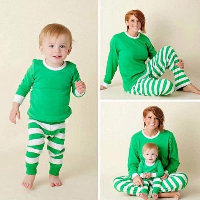 Подходящие семейные пижамы наборы рождественские пижамы с Рождеством оленей_13