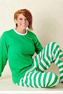 Conjuntos de pijamas familiares a juego Ropa de dormir navideña Reno de feliz Navidad_8