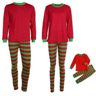 Conjuntos de pijamas familiares a juego Ropa de dormir navideña Reno de feliz Navidad_19