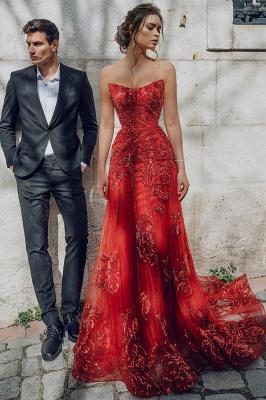 Vestido de noite com namorada floral Partten até o chão Vestido de festa em tule_2