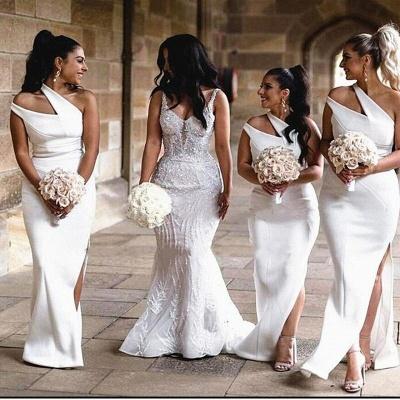 One-Shoulder-Slim-Brautjungfern-Kleid-Strech-Side-Split-Party-Kleid-Hochzeit-Gast-Kleid_2