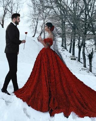 Robe de bal imprimée florale 3D à épaules dénudées pour robes de soirée fille_7