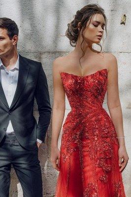 Sweetheart Floral Partten robe de soirée longueur de plancher robe de soirée en tulle_5