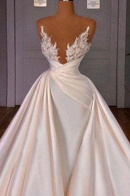 Off the Shoulder Sequined Fur Satin Wedding Party Gown Sleeveless/Long Sleeves styles