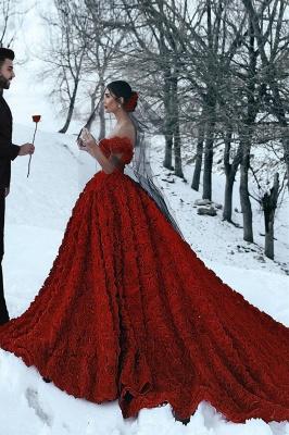 Robe de bal imprimée florale 3D à épaules dénudées pour robes de soirée fille_4