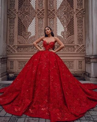 Роскошные женские бальные платья Sweetheart, вечерние платья, 3D-цветочный принт, Sweep Train_2