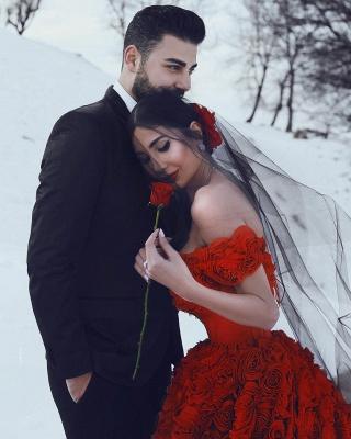 Robe de bal imprimée florale 3D à épaules dénudées pour robes de soirée fille_5