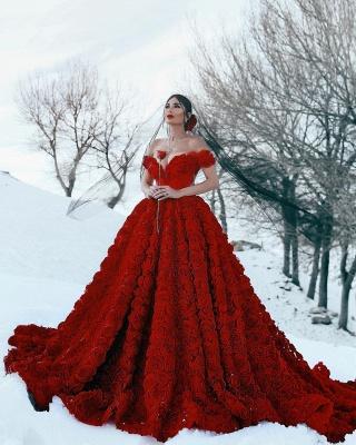 Robe de bal imprimée florale 3D à épaules dénudées pour robes de soirée fille_8