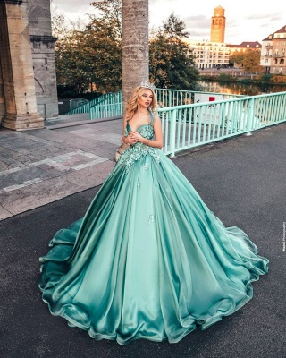 Dazzling Halter Sweetheart A-line Princess Party Gowns Sleeveless Long Evening Dress_5