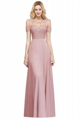 MAE   A-line Illusion Neckline Long Appliques Chiffon Prom Dresses_1