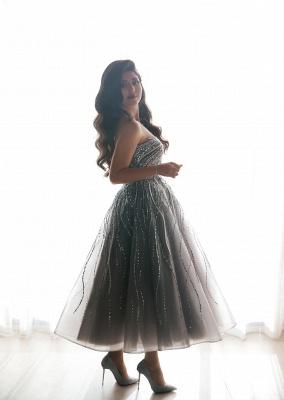 Stunning One Shoulder Sequins Beading Aline Short Party Dress_4