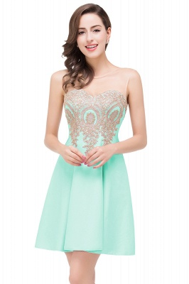 ESTHER | A-line Sleeveless Chiffon Short Prom Dresses with Appliques_5