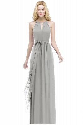 ROSALIND | A-line Halter Floor Length Burgundy Bridesmaid Dresses with Bow Sash_7