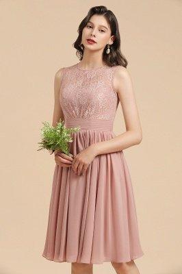 Элегантное кружевное платье для встречи выпускников без рукавов с круглым вырезом, короткое коктейльное платье_9